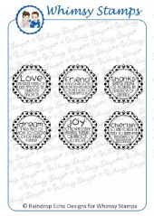 ###Whimsy Stamps - Definitions Notables 7 - Sentiments Collection