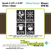 ###Die-Versions - Whispers - Holiday Postage