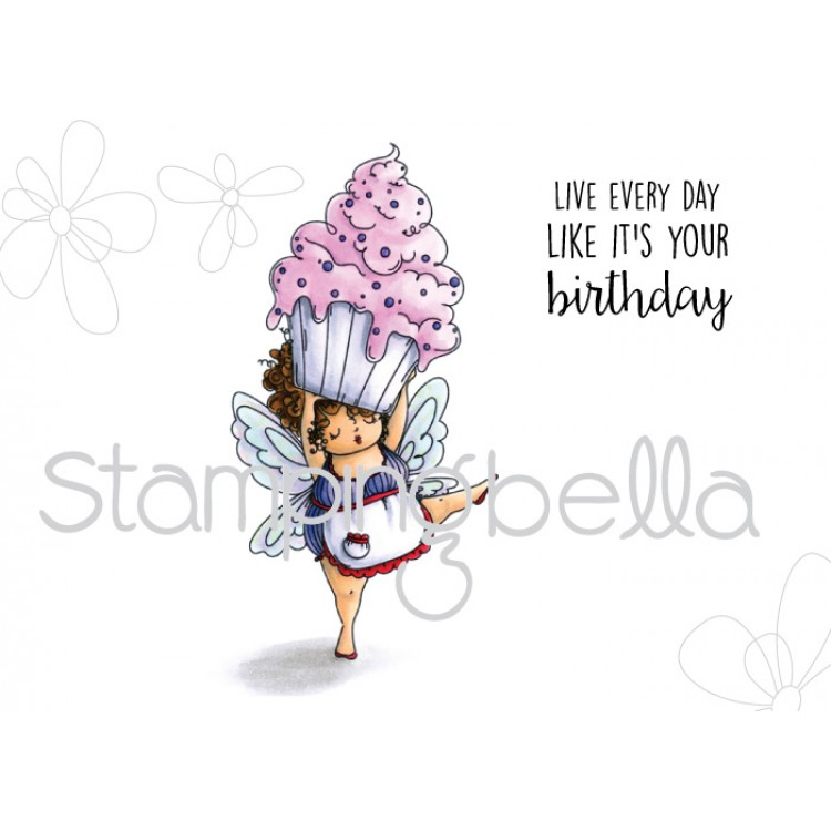 Stamping Bella - Edna with a cupcake on top