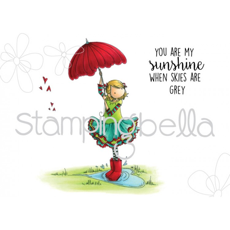 Stamping Bella - Tiny Townie RACHEL loves the rain