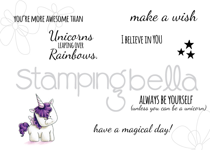 Stamping Bella - Unicorn Sentiment Set