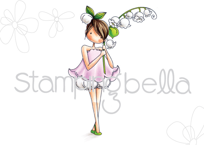 Stamping Bella - Tiny Townie Garden Girl Lily of the Valley