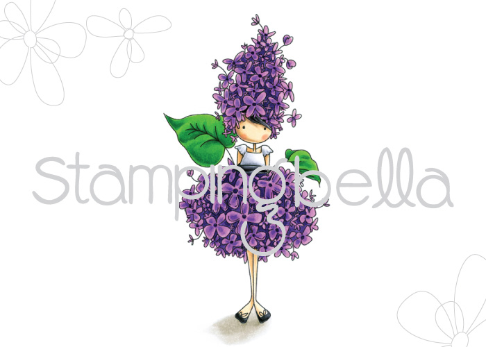 Stamping Bella - Tiny Townie Garden Girl Lilac