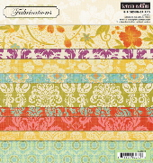 Fabrications - Canvas 8 x 8 Designer Paper Pad