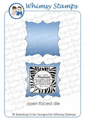 ###Whimsy Stamps - Fancy Square Die - Shapeology Dies