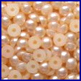 Flat Backed Pearls - Pale Peach - 4mm