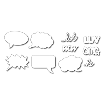Frantic Stamper - Cartoon Speech Bubbles
