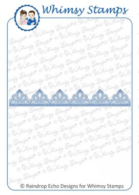Whimsy Stamps - Lace Doily Border 1 Die - Shapeology Dies