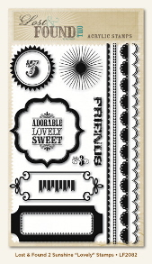 Lost & Found Sunshine - 'Lovely' Clear Stamps