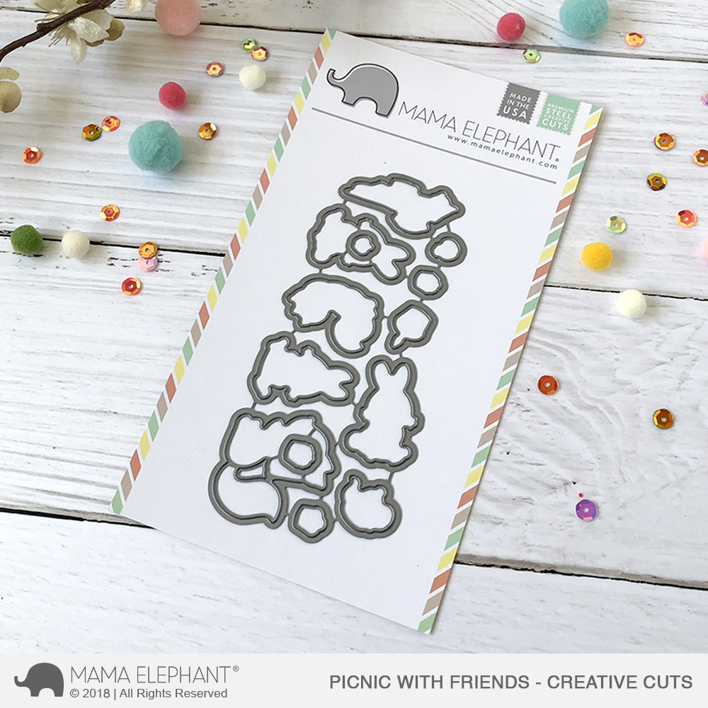 *NEW* - Mama Elephant - Picnic with Friends - Creative Cuts