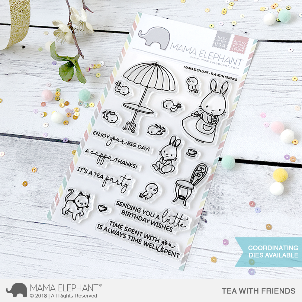 *NEW* - Mama Elephant - TEA WITH FRIENDS