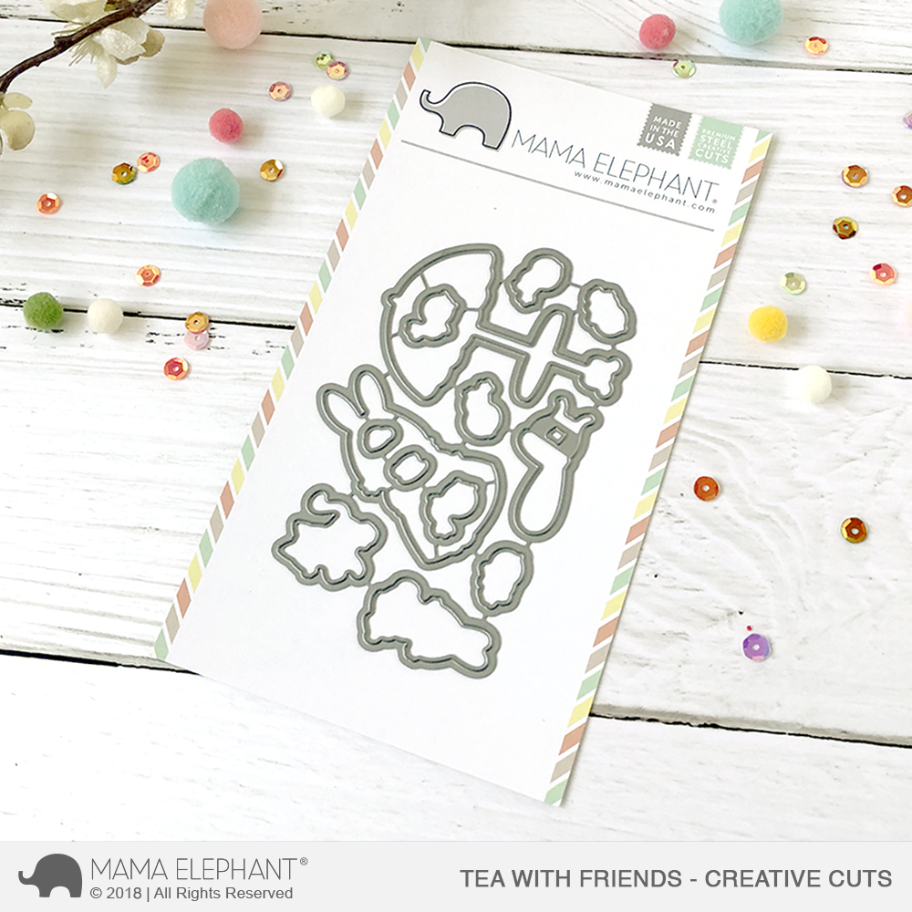 *NEW* - Mama Elephant - Tea with Friends - Creative Cuts