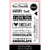 *SALE* My Favorite Things - Chocolate Sentiments Stamp Set