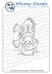* XMAS* Whimsy Stamps - Penguin Chocolate Surprise - Crissy Armstrong Collection