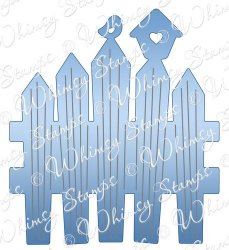 Whimsy Stamps - Picket Fence Die - Shapeology Dies