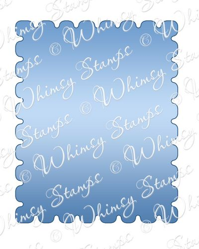 Whimsy Stamps - Postage Stamp Die - Shapeology Dies