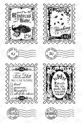 Whimsy Stamps - Postage Stamps Sentiments - Sentiments Collection