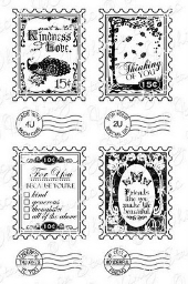 ###Whimsy Stamps - Postage Stamps Sentiments - Sentiments Collection