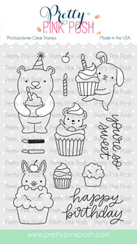 Pretty Pink Posh - Cupcake Critters Stamp Set