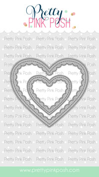 Pretty Pink Posh - Scallop Hearts Dies