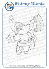 * XMAS* Whimsy Stamps - Santa's Glee - Crissy Armstrong Collection