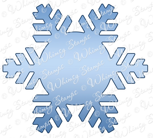 Whimsy Stamps - Snowflake Mini Letter Seal Die - Shapeology Dies