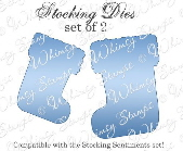 ###Whimsy Stamps - Holiday Stocking Die Set - Shapeology Dies