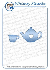 ###Whimsy Stamps - Teapot and Cup Die Set - Shapeology Dies