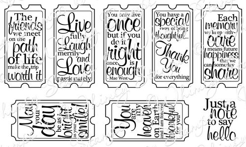 Whimsy Stamps - Ticket Notes - Sentiments Collection