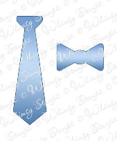 ###Whimsy Stamps - Ties Die Set - Shapeology Dies