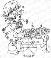 ###Whimsy Stamps - Tilly's Flower Cart - Elisabeth Bell