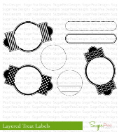 SugarPea Designs - Layered Treat Labels Stamp Set