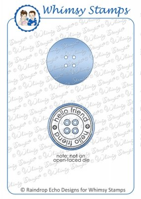 Whimsy Stamps - Button Die - Shapeology Dies