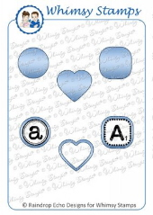 ###Whimsy Stamps - Tiny Shapes Die Set - Shapeology Dies