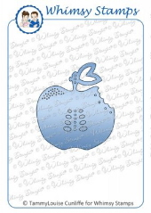 ###Whimsy Stamps - Apple a Day Tag Die - Shapeology Dies