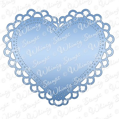 Whimsy Stamps - Double Scallop Heart Doily Die - Shapeology Dies