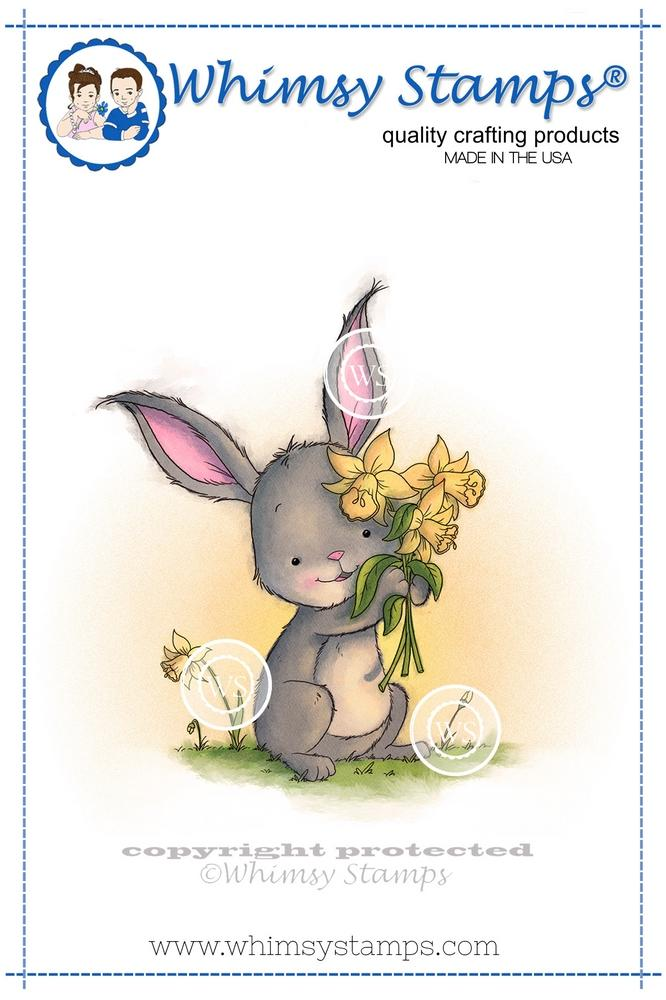 Whimsy Stamps - Spring Bouquet Bunny