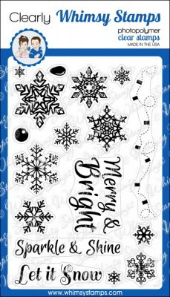 * XMAS* Whimsy Stamps - Sparkle and Shine - Clear Stamps
