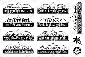 ###Whimsy Stamps - Thank You Tabs 1 - Sentiments Collection