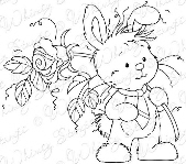 Whimsy Stamps - Wee Stamps - Wee Bunny - Wee Stamps