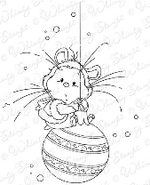 ## xmas-Whimsy Stamps - Wee Stamps - Xmas Hamster - Wee Stamps